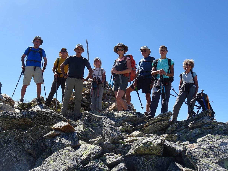 Au sommet du Pic d'Etang Faury