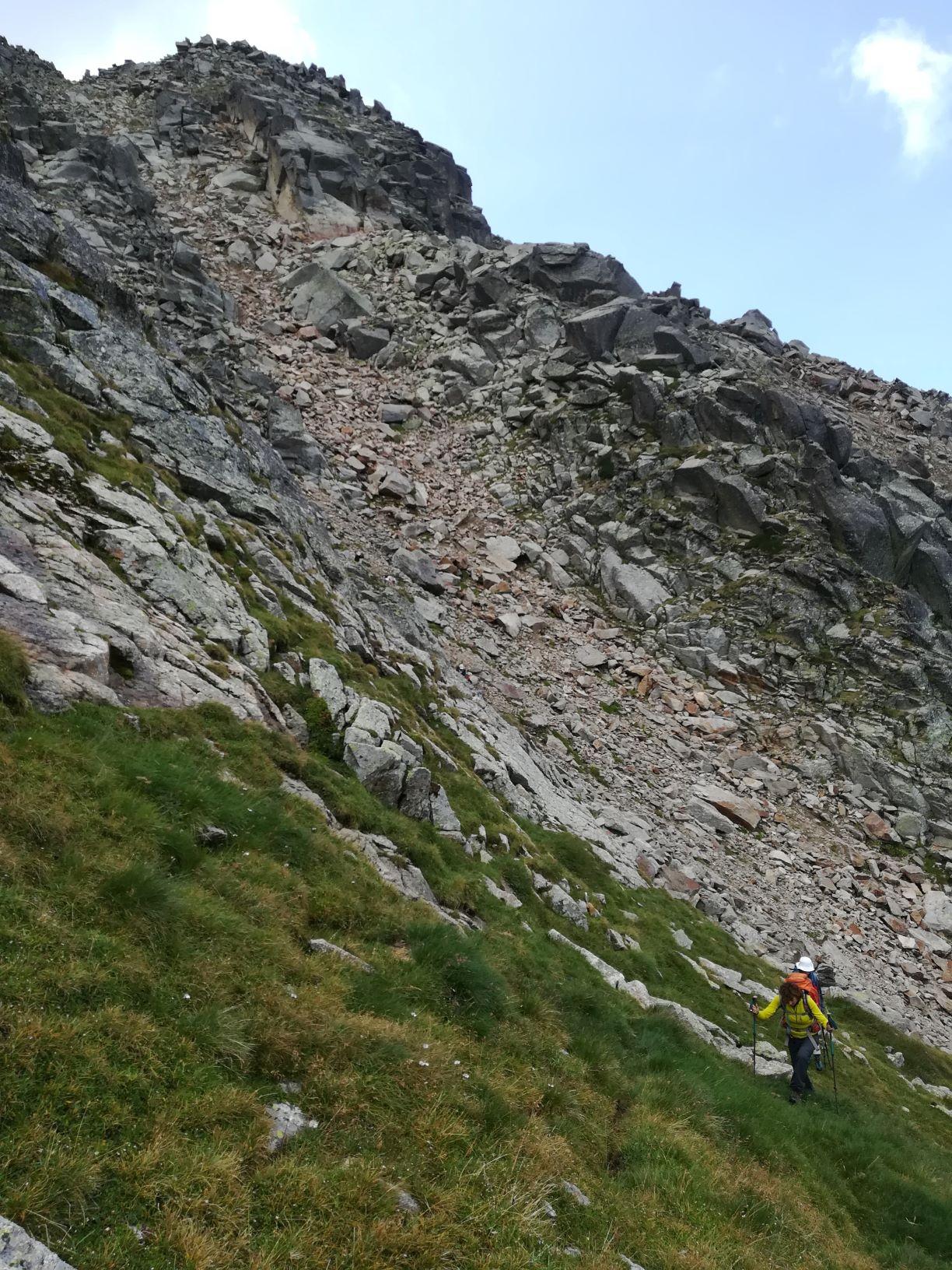 J2 - Couloir d'accès au sommet