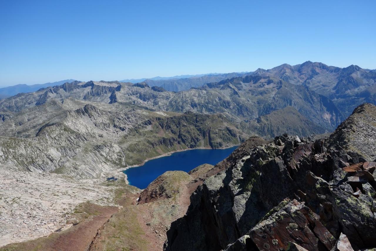 Lac de Certescans depuis le Pic