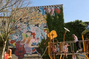 Fresque graff jardin embarthe arnaud bernard toulouse